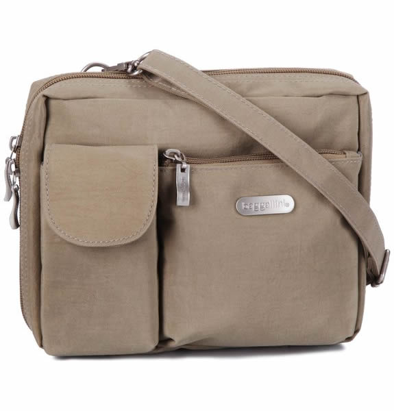 Baggallini Wallet Bagg Large Beige 25x15x10cm