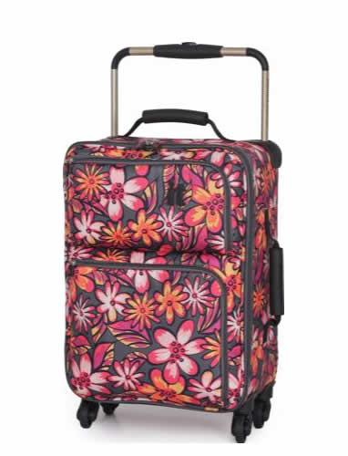 IT Luggage World's Lightest Small 4 Wheel Suitcase - Floral