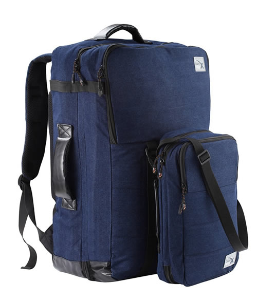 Cabin Max Blue Denim + Shoulder Bag