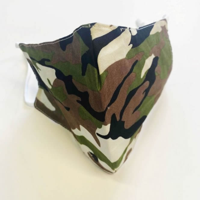 Fashion Face Mask Camo Camouflage 3 Piece Hygiene Pack 88