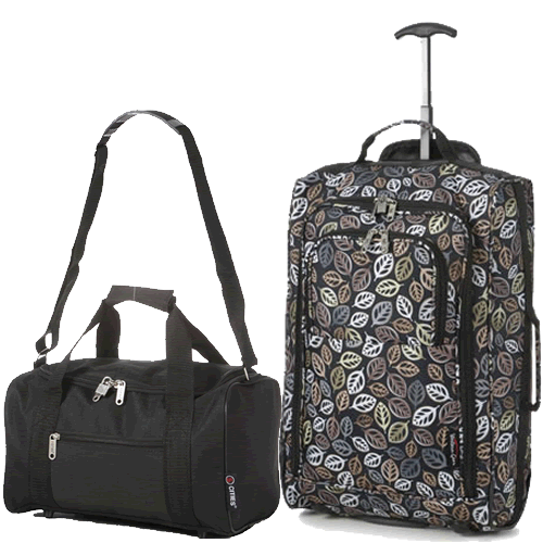 Travelmax Ryanair 2 CabinBag Set Black Leaf