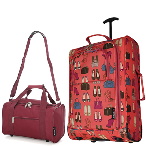 Travelmax Ryanair 2CabinBag Set Peach Wine