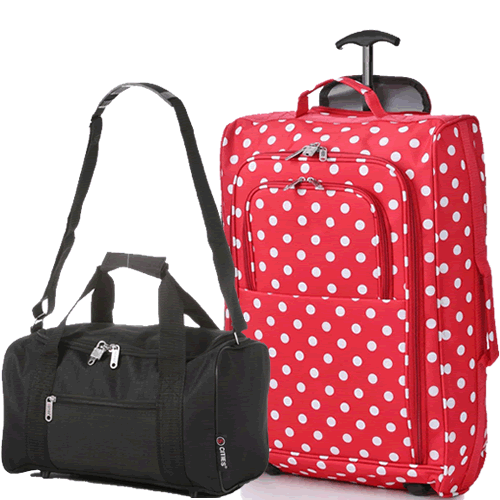 Travelmax Ryanair 2 CabinBag Set Polka Red