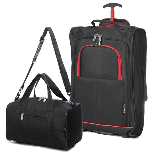 Travelmax Ryanair 2 CabinBag Set Red Trim