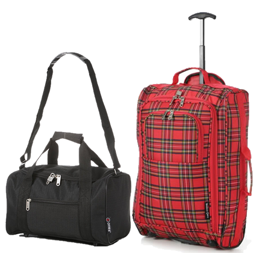 Travelmax Ryanair 2 CabinBag Set Tartan Red