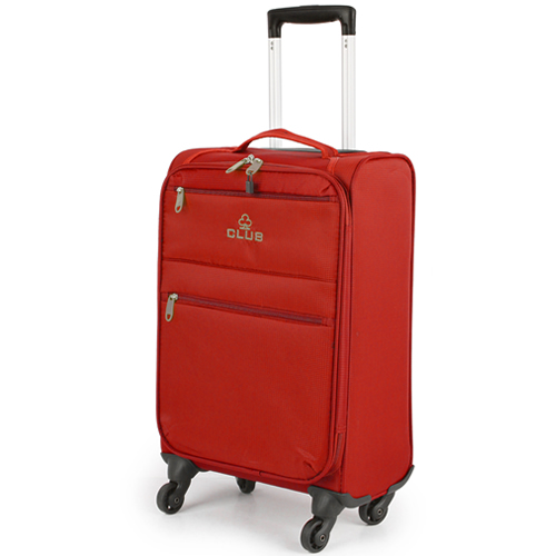 Ryanmax 55x35x20cm 4Wheel Flexible Cabin Bag 1.8Kg Red Club