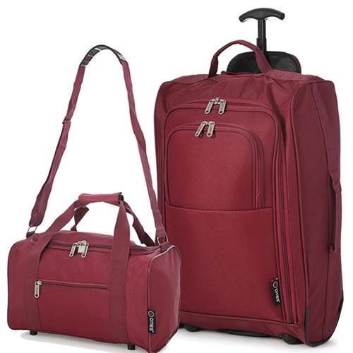 Ryanmax Cabin Bag Set Smart Burgundy