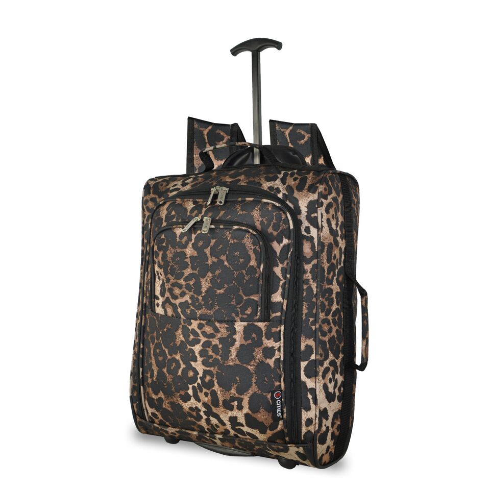Skymax Trolley Backpack 55x40x20cm 1.5Kg Leopard