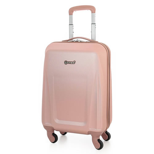 Ladymax 4Wheel Ryanair Hardshell Spinner Rose Gold
